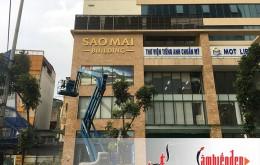 Thi công bộ chữ Sao Mai Building