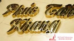 Làm chữ nổi inox nhanh, đẹp tại Hà Nội
