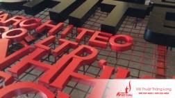 Làm chữ nổi tôn sơn tĩnh điện tại Hà Nội