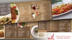Thiết kế, in ấn  menu- thực đơn nhà hàng